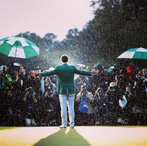 Adam Scott looking pious after victory in 2013.  Will it be a graceful 2014?